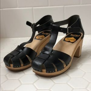 Swedish Hasbeen Black Sandals size 37 Italy
